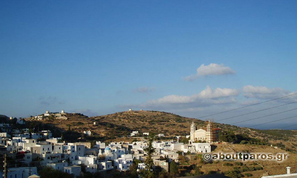Panoramic photo of Lefkes village